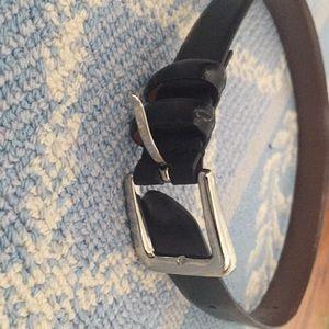 Other - Black leather belt